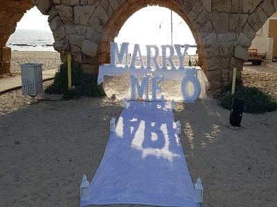 הצעת נישואין בקיסריה חוף הקשתות 21.5.19